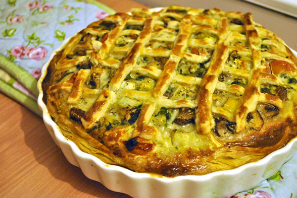 Delicious Dairy-free Chicken and Vegetable Quiche |