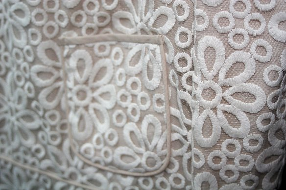 A detail from the beautiful Valentina dress, from the winter mini collection...