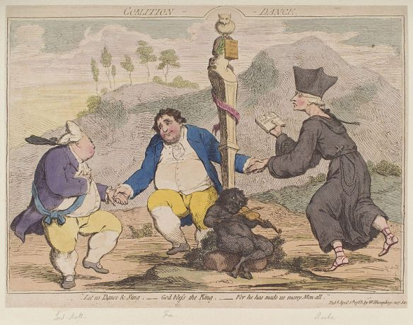 Satire and caricature drawings were very common in the magazines and papers of the time. Photo credit: British Library.